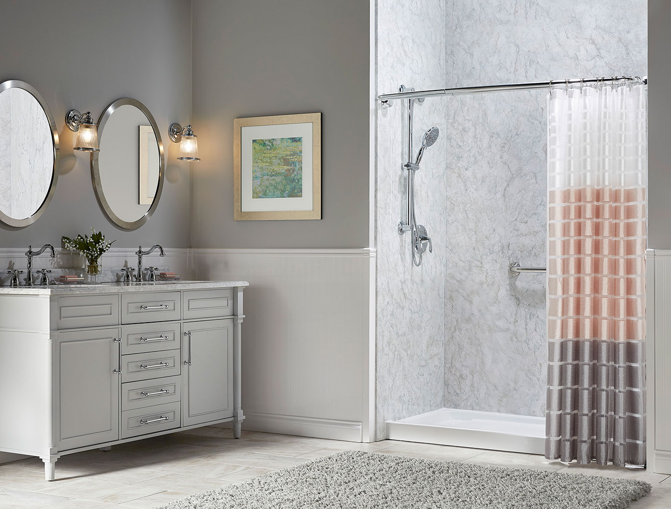 install a lowmaintenance shower that's easy to clean